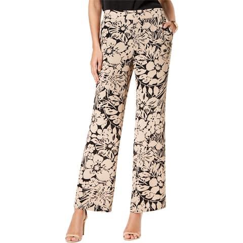 Nine West Womens Floral Casual Wide Leg Pants