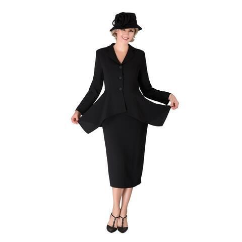 Giovanna Signature 2-piece Uneven Jacket Sweep Skirt Suit