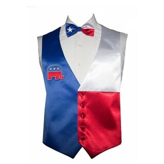 Republican Party Novelty Tuxedo Vests and Bow Tie - Red, White, Blue