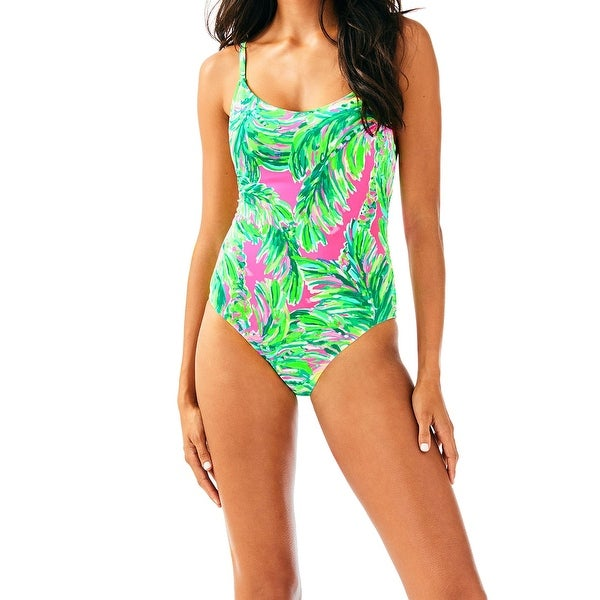 0405ec529bfad Shop Lilly Pulitzer Green Womens Size 6 Printed One-Piece Swimwear - Free  Shipping Today - Overstock - 28119455