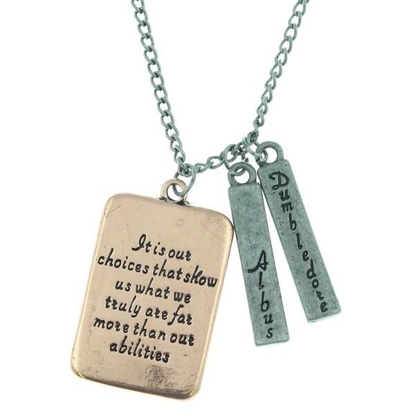 Shop Harry Potter Albus Dumbledore Quote Necklace On Sale Free