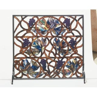 Meyda Tiffany 32221 Accessory Fireplace Screen from the Floral Elegance series
