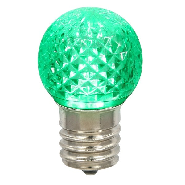 G40 Faceted LED Green Bulb E12 .38W