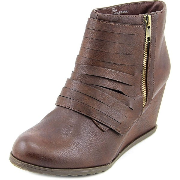 2 Lips Too Too Naia Women Round Toe Synthetic Ankle Boot