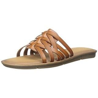 Skechers Womens Faux Leather Flats Slide Sandals - 7 medium (b,m)