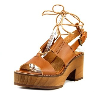 MTNG 97420 Open Toe Leather Platform Sandal