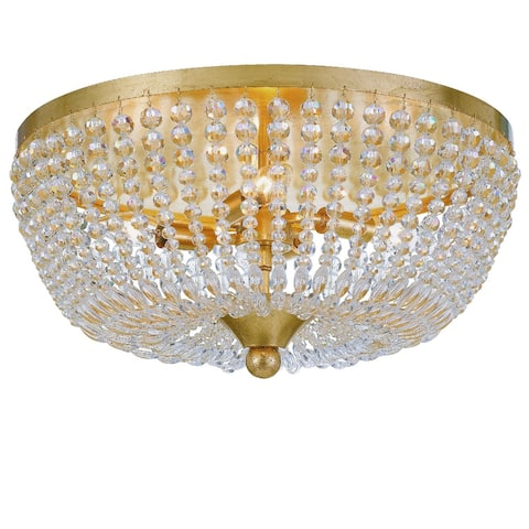 Rylee 4 Light Antique Gold Ceiling Lamp - 18.5'' W x 7.5'' H - 18.5'' W x 7.5'' H