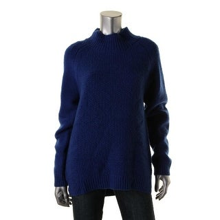 Pure DKNY Womens Wool Hi-Low Pullover Sweater
