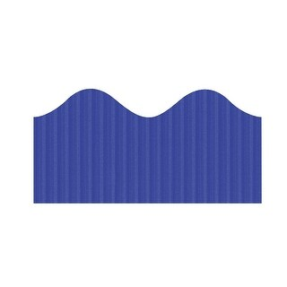 Bordette Pacon Scalloped Decorative Border, 2-1/4 in X 50 ft, Royal Blue