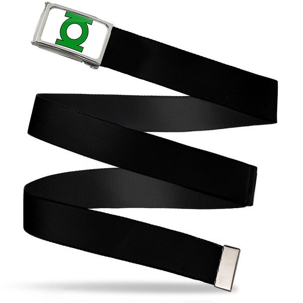 Green Lantern Logo Close Up Fcg White Green Chrome Black Webbing Web Web Belt