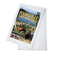Asheville, NC - Montage Scenes - LP Artwork (100% Cotton Towel Absorbent)