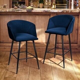 Furniture R Midbar Velvet Armchair Barstool With 2 pieces