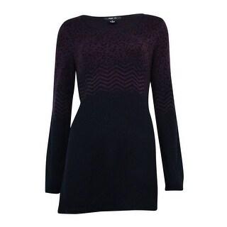 Style & Co. Women's Chevron Asymmetrical Tunic Sweater