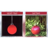 LED Lighted Red Battery Operated Shatterproof Christmas Ball