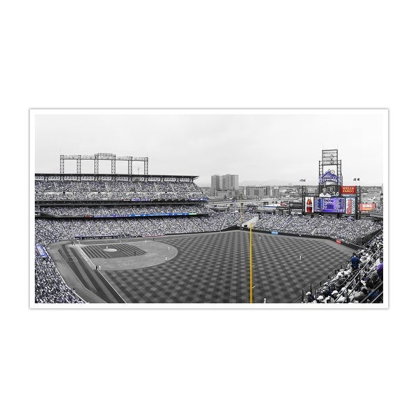 Colorado Rockies - Coors Field Touch of Color Baseball Ballparks Matte Poster 36x20