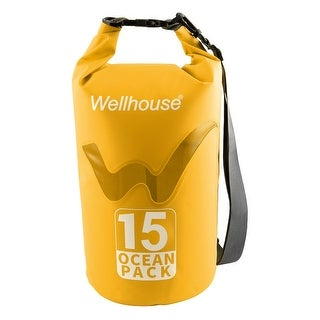 Wellhouse Authorized Underwater Travelling PVC Dry Bag Pouch Backpack Yellow 15L