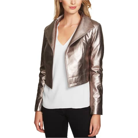 1.State Womens Cropped Metallic Jacket