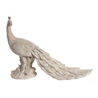 """30"""" Cream White Morara Peacock Sculptural Accent - N/A"""