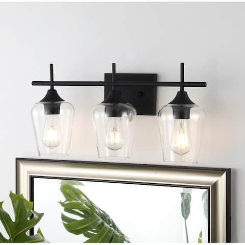GetLedel 3-light Vanity Light Sconce With Clear Glass Shade