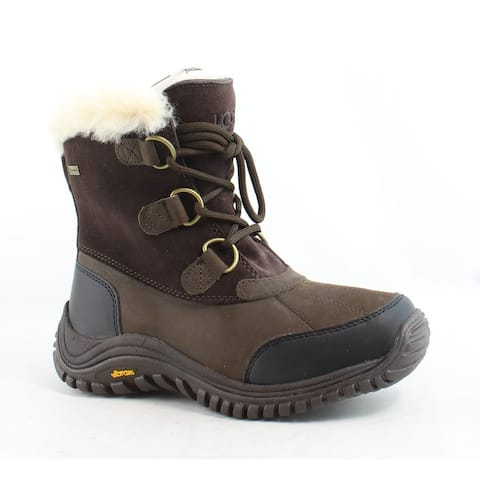 UGG Womens Ostrander Stout Leather Snow Boots Size 5.5