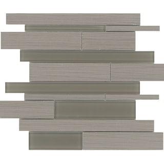 Emser Tile F72THRE1313MOL  Thread - Random Linear Mosaic Floor and Wall Tile - Smooth Fabric Visual