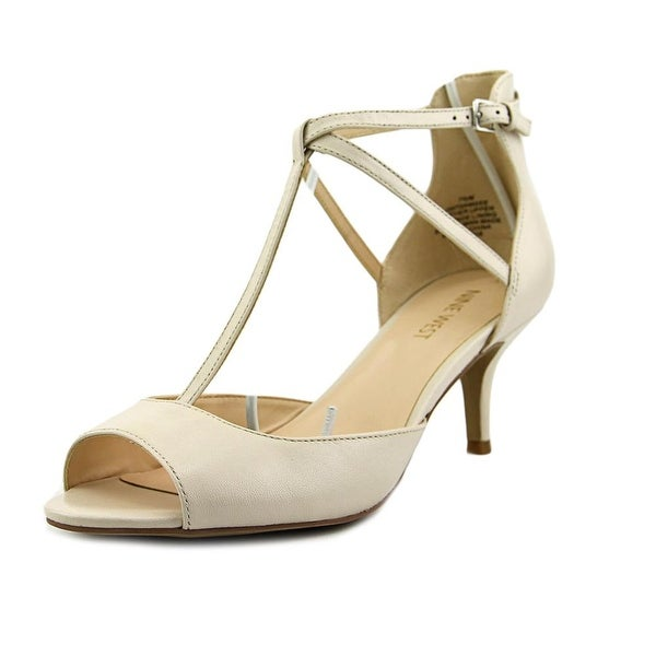 Nine West Gamgee Women  Open Toe Leather Ivory Sandals