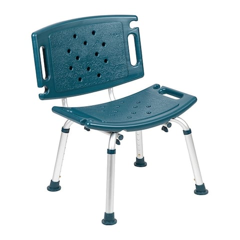 Offex Tool Free and Quick Assembly 300 Lb Capacity Adjustable Bath Shower Chair with Extra Large Back