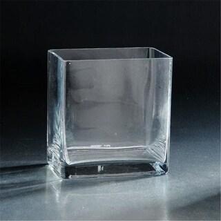 Diamond Star 84818C 6 x 6 x 6 in. Square Glass Votive Clear