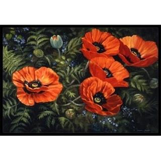 Carolines Treasures BDBA0007MAT Poppies by Daphne Baxter Indoor or Outdoor Mat 18 x 27