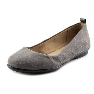 Easy Spirit Kimera Women Round Toe Canvas Gray Flats