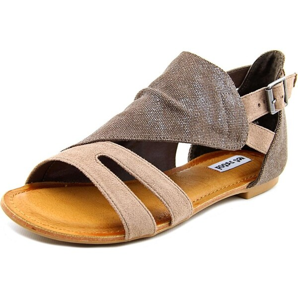 Not Rated Senio Women Open Toe Canvas Tan Gladiator Sandal