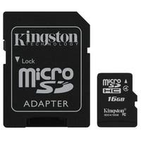 Kingston - microSDHC Flash Memory with SD Adapter 16GB