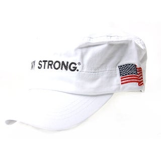 Army Strong Cadet USA Flag On Side Hat, White