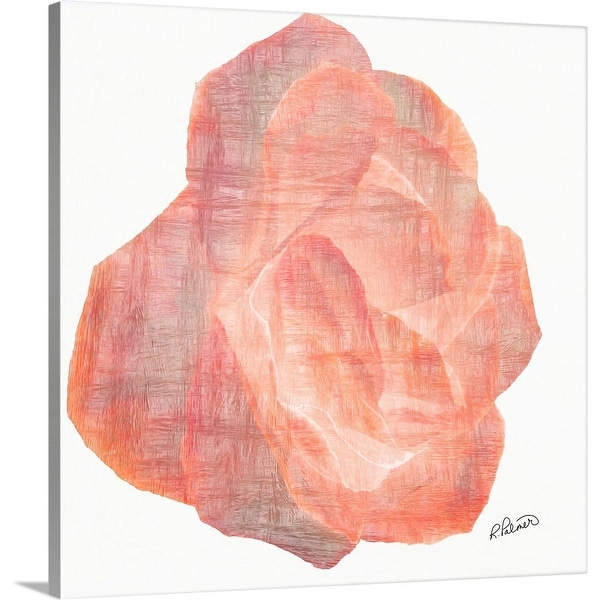 """""""Pink Layered Paper Rose"""" Canvas Wall Art"""