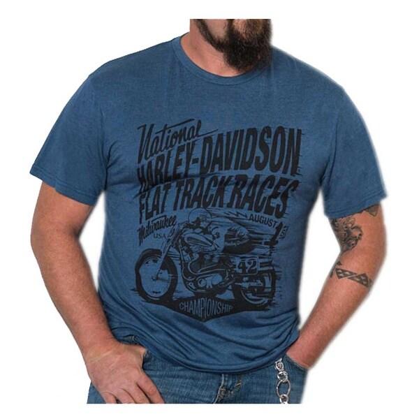 086cc396 Shop Harley-Davidson Men's Speed Racer Premium Short Sleeve T-Shirt, Ensign  Blue - Free Shipping On Orders Over $45 - Overstock - 21650892