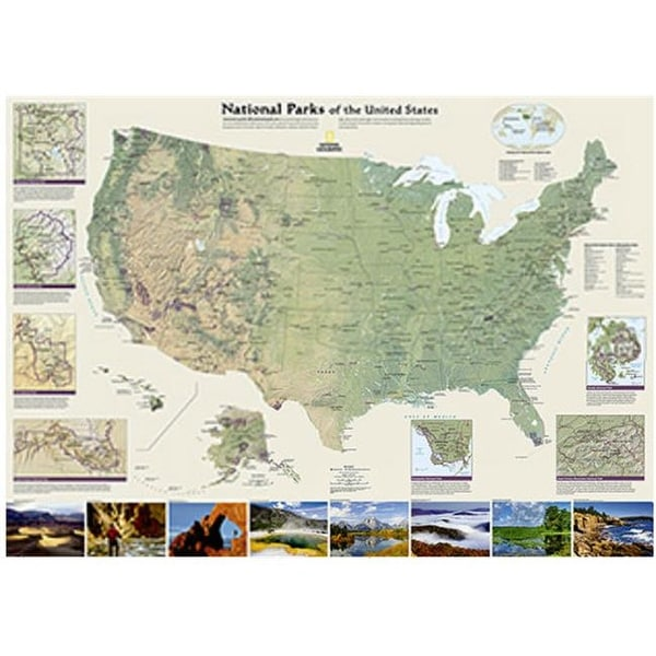 Shop National Geographic Maps United States National Parks Wall Map ...