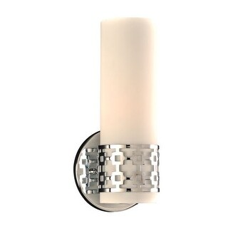 "PLC Lighting 7566 1 Light 4.75"" Wide ADA Compliant Bathroom Sconce from the Leila Collection - Polished chrome"