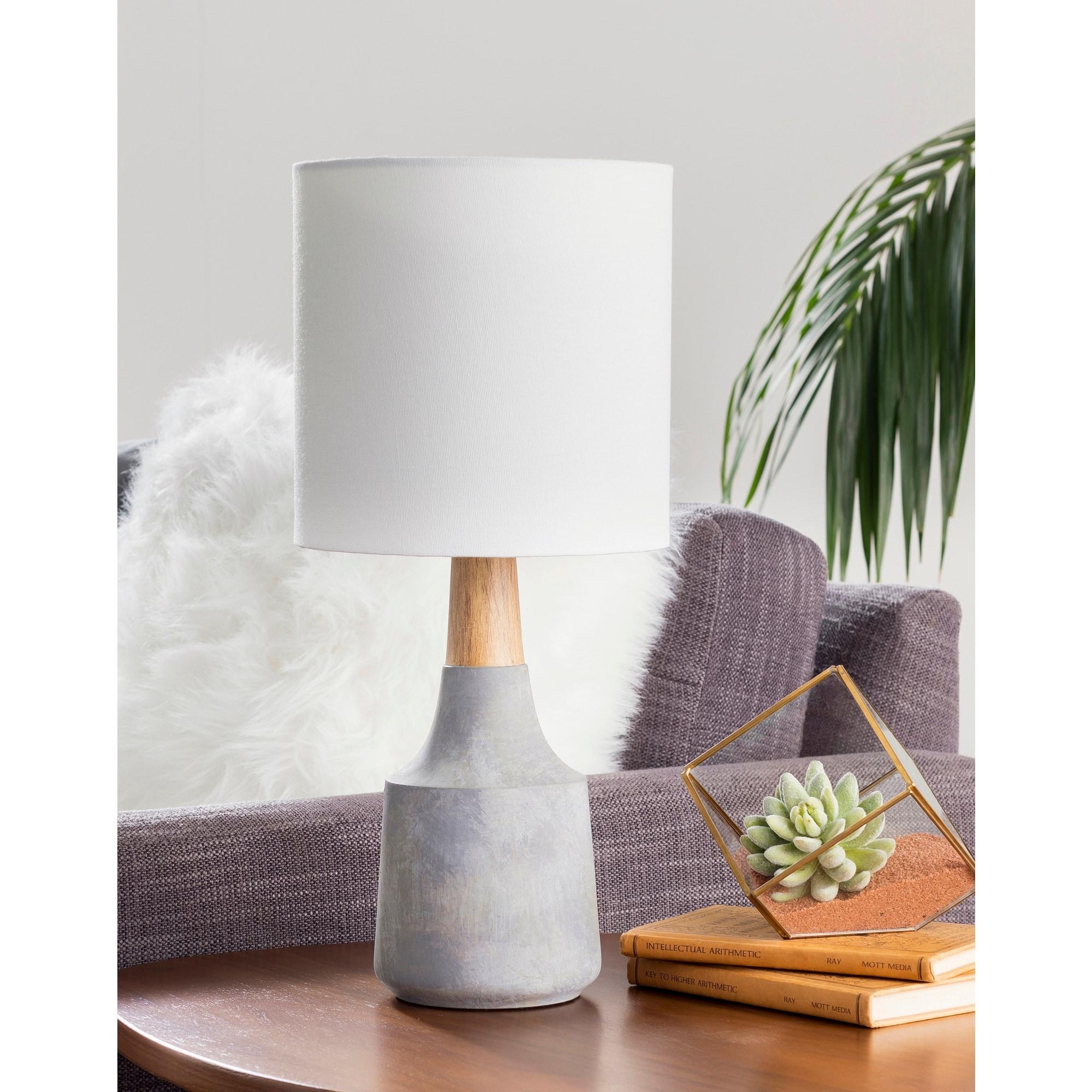 Hadrian Denim Blue Modern Table Lamp Overstock 22996894