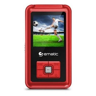 "Ematic Em208vidrd 8Gb 1.5"" Mp3/Video Player – Red"