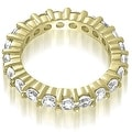 3.20 cttw. 14K Yellow Gold Classic Round Cut Diamond Eternity Wedding Band - Thumbnail 1