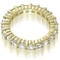3.20 cttw. 14K Yellow Gold Classic Round Cut Diamond Eternity Wedding Band - Thumbnail 1