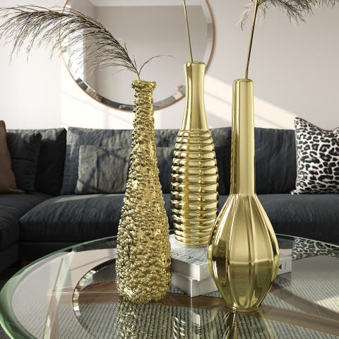 Tianna Gold Vases (Set of 3)