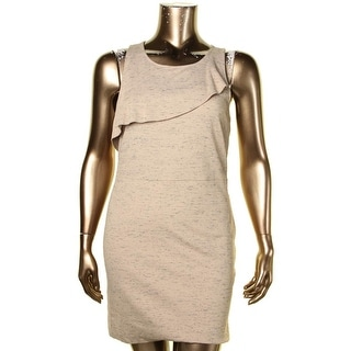 Kensie Womens Wear to Work Dress Pattern Ruffle - XL