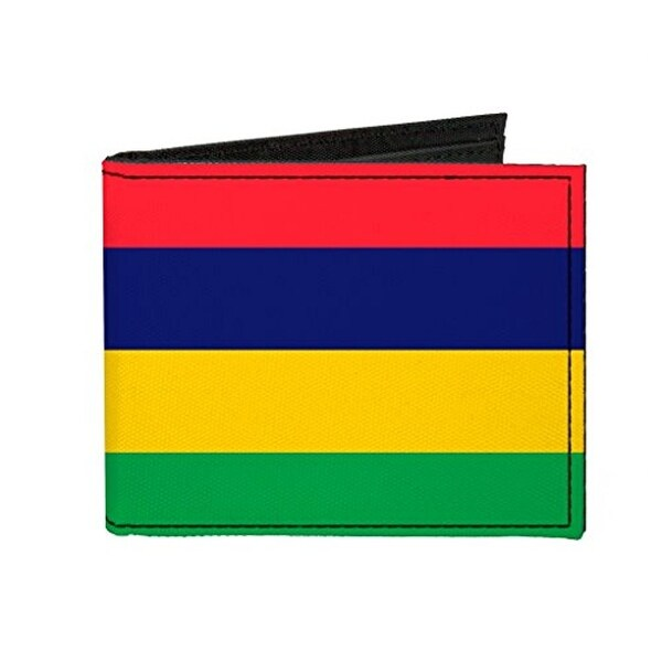 Buckle-Down Canvas Bi-fold Wallet - Mauritius Flag Accessory