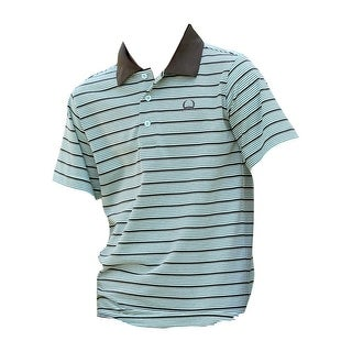 Cinch Western Shirt Boy Short Sleeve Polo Stripe Light Blue MTK7600005