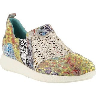 73c8e37d0c95 Shop L Artiste by Spring Step Women s Keisha Sneaker Yellow Multi Metallic  Leather - On Sale - Free Shipping Today - Overstock - 20187246