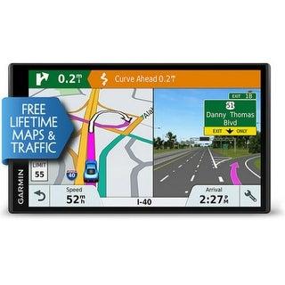 Garmin DriveSmart 61LMT-S GPS Vehicle Navigation System w/ Free Lifetime Map & Traffic Updates