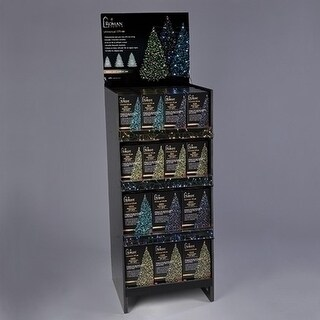 Black and Gold Colored 56 Pieces USB Tree Lights Pre-Pack with Floor Display Stand