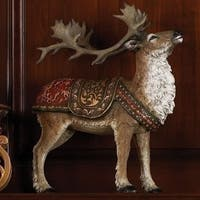 "16"" Brown Santa Book of Secret Reindeer with Red and Green Saddle"