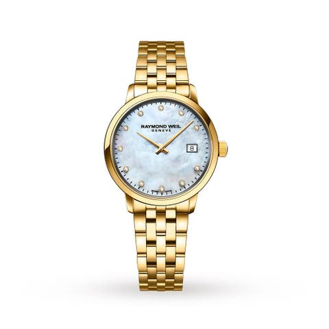 Raymond Weil Women's 5985-P-97081 'Toccata' Gold-Tone Stainless Steel Watch - Silver